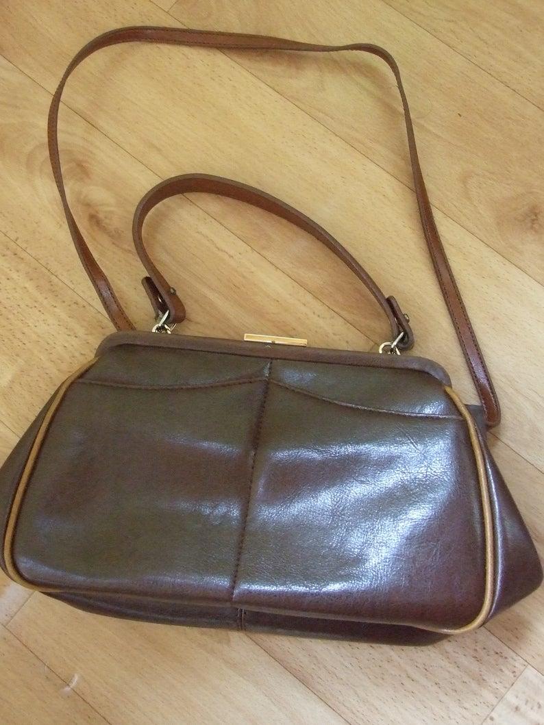 Vintage Valentino By Mario Valentino Designer Handbag Brown Genuine Leather Bag Rare Vintage Handbag Vintage Accessory Designer Bag In 2020 Genuine Leather Bags Bags Designer Vintage Valentino