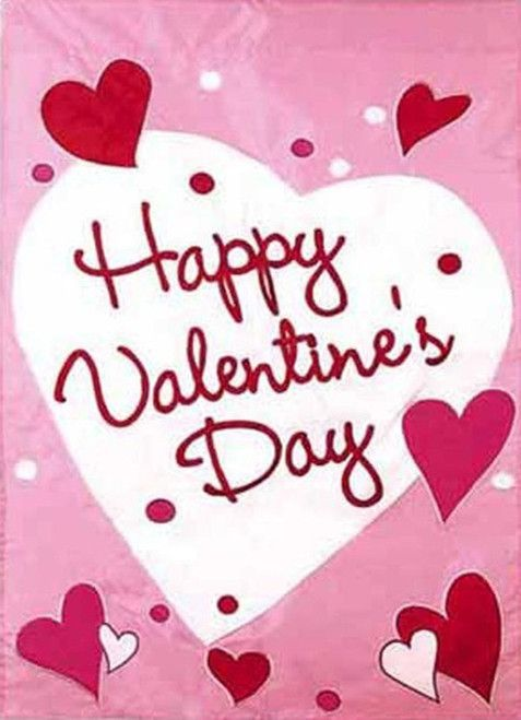 Happy Valentine\'s Day Flag | Flags, Embroidery and Holidays