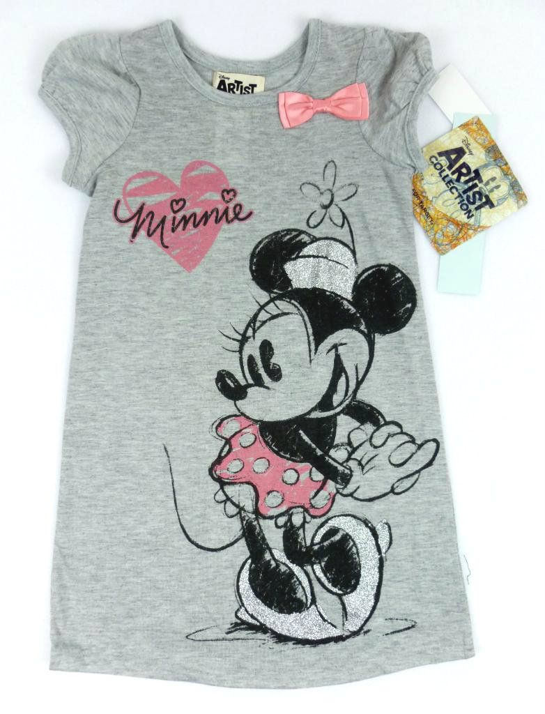 efc5ad941c Disney Artist Collection For Target Vintage Minnie Mouse Nightgown Girls 3T  NWT