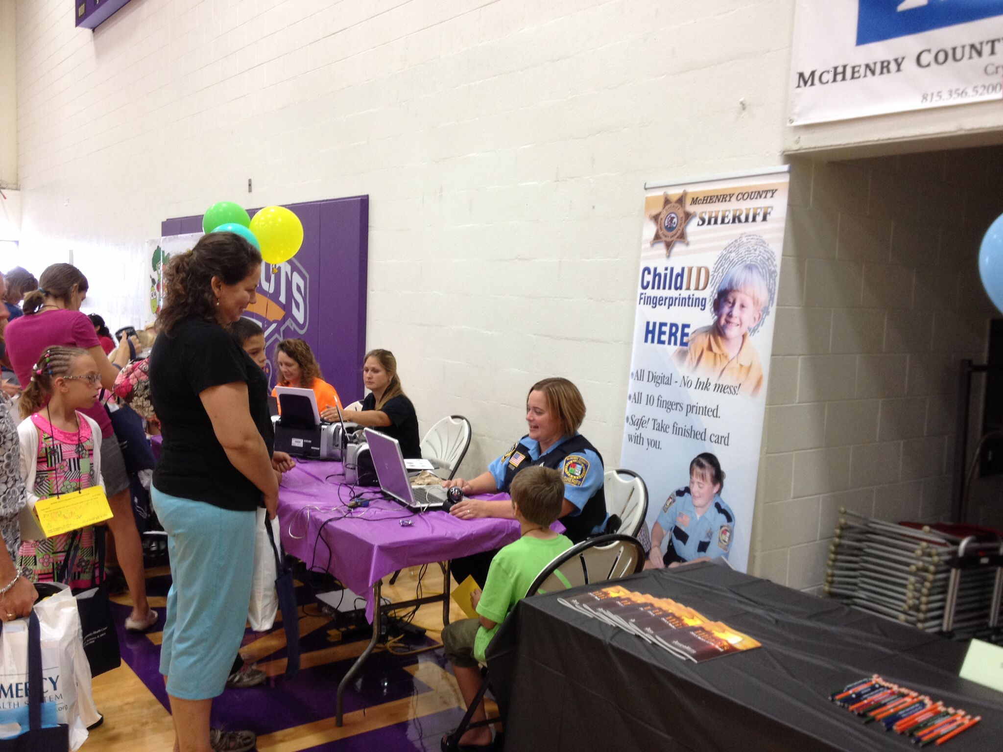 Fingerprinting at the mchenry county childrens health