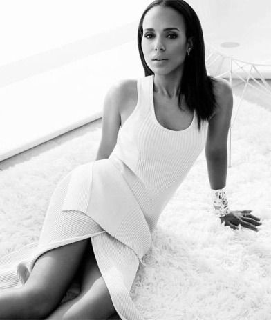 Kerry Washington for The Edit by Net-A-Porter by Bjorn Iooss in Notes on a Scandal, April 2015