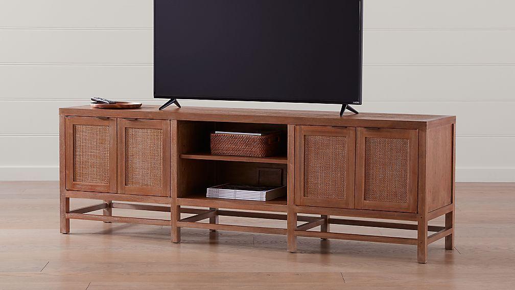 Blake 85 Carbon Mahogany Media Console Reviews Crate And Barrel Media Console Big Lots Furniture Teak
