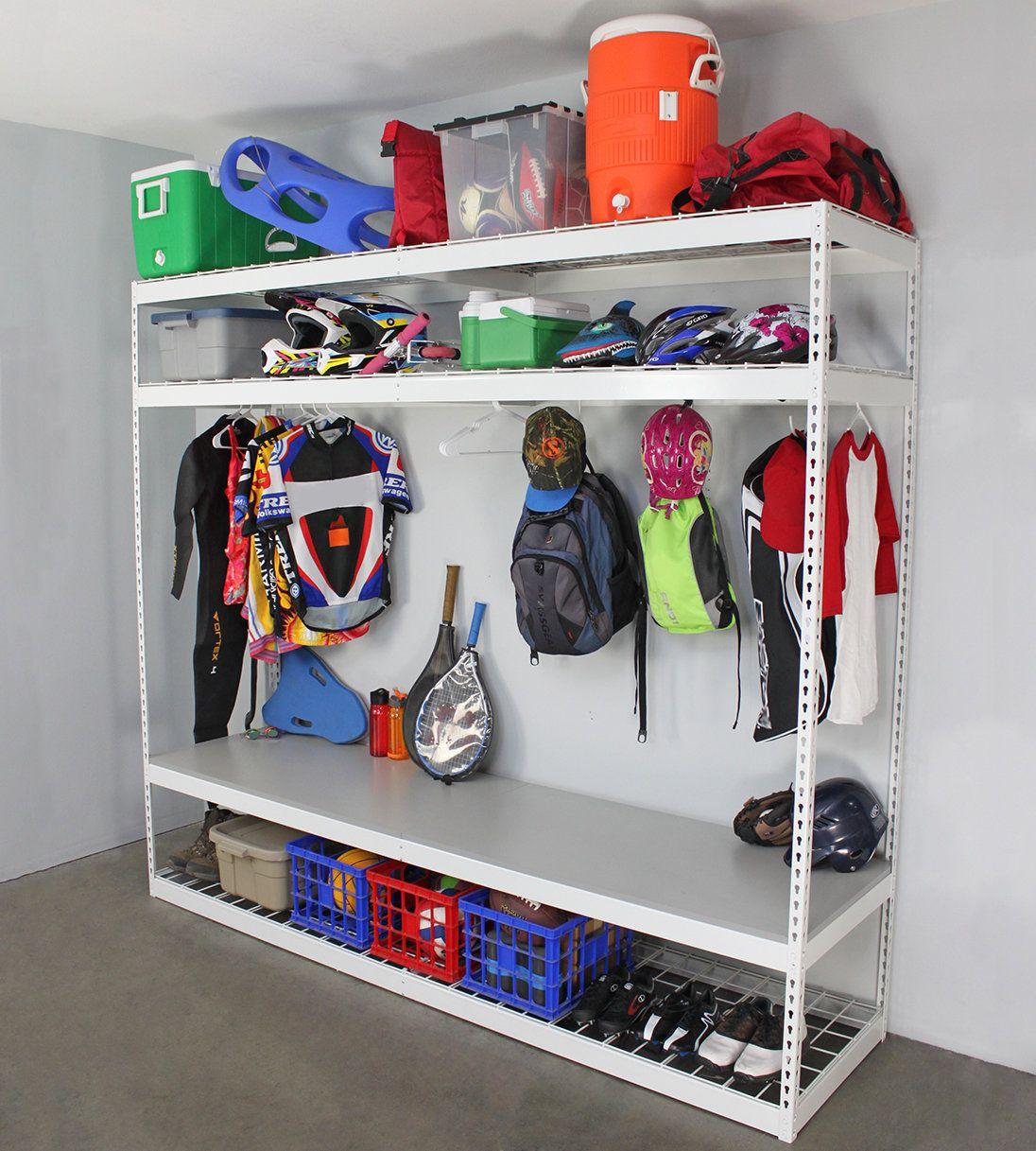 Sports Equipment Shelving Unit Sports equipment storage