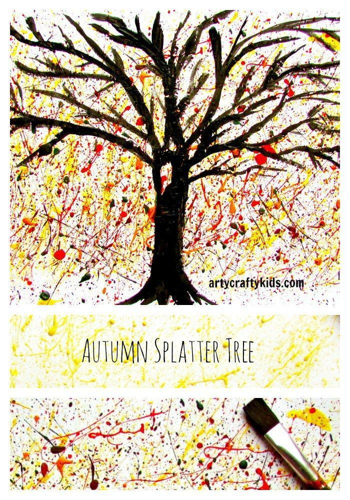 fall tree craft ideas autumn splatter tree crafty and crafty 4427