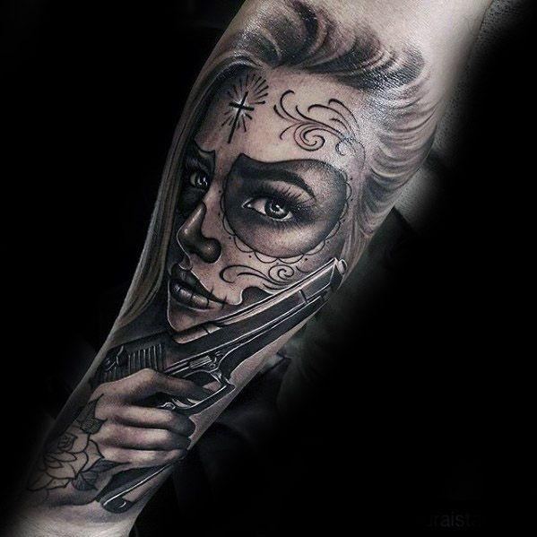 Melhores Tatuagens De Catrina Para Inspirar Agora Tattoos border=