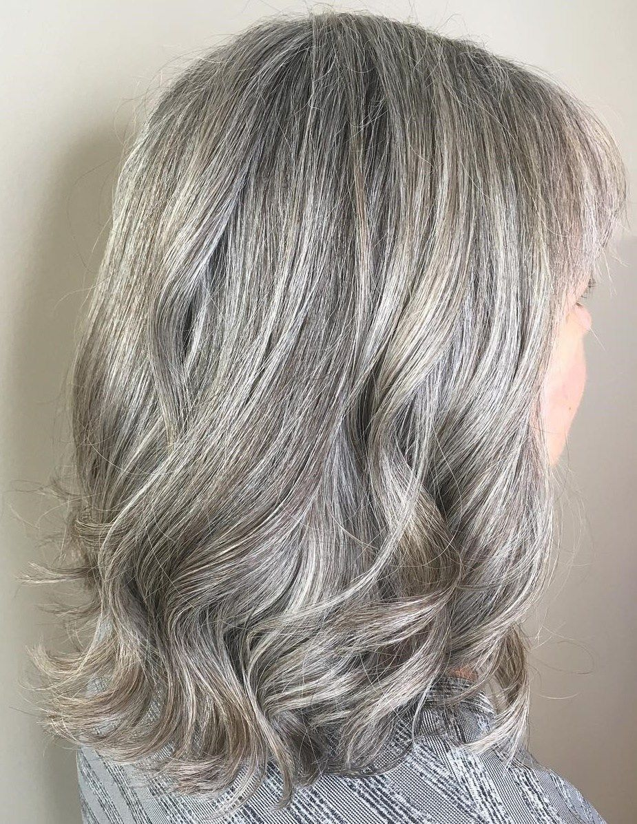 65 Gorgeous Gray Hair Styles Medium Length Hair Styles Medium Hair Styles Long Gray Hair