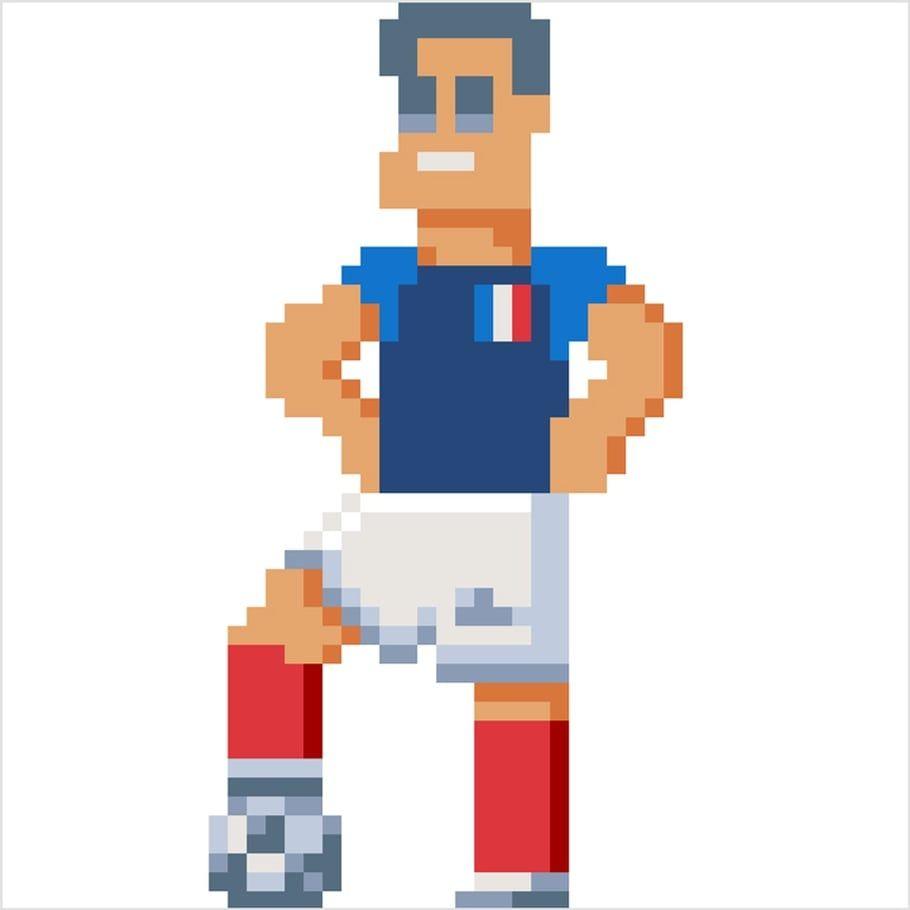 Coloriage Et Illustration Dun Footballeur De Léquipe De