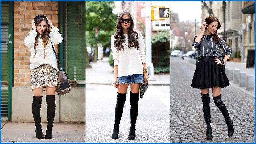 blusones con leggins y botas - Buscar con Google