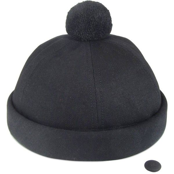 d1b9c2ec377 Béton Ciré Men Handmade Denim Sailor Hat W  Pompom ( 120) ❤ liked ...