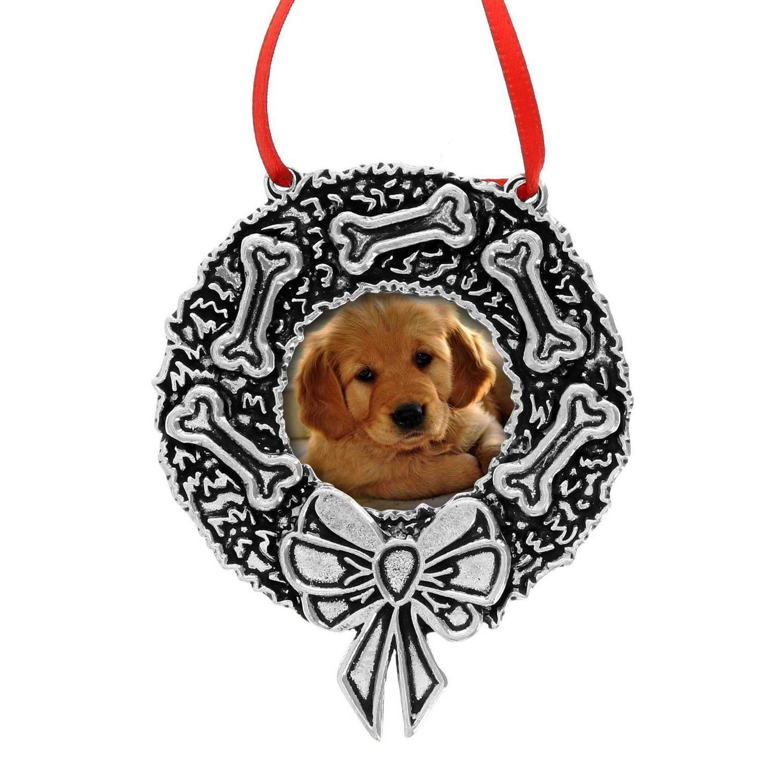 Dog Wreath Photo Frame Ornament Dog wreath, Photo frame
