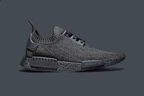 Pitch Black adidas NMD R1 Primeknit Sneaker Bar Detroit