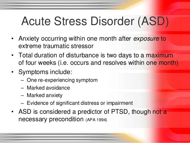akut stressreaktion symptom