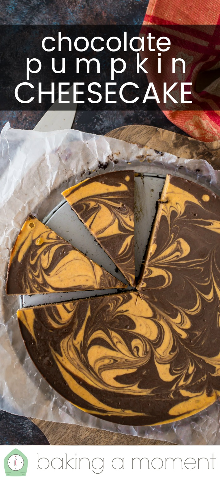 Pumpkin Chocolate Swirl Cheesecake
