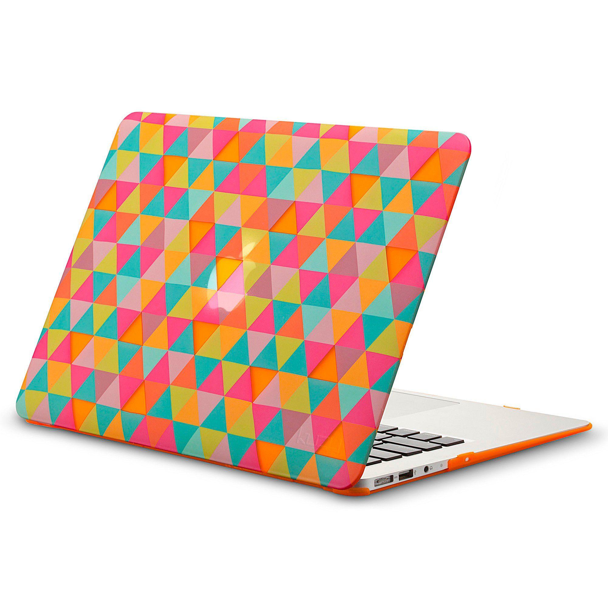 buy popular 81e32 eeeb6 Kuzy - AIR 13-inch Triangles ORANGE Rubberized Hard Case for MacBook ...