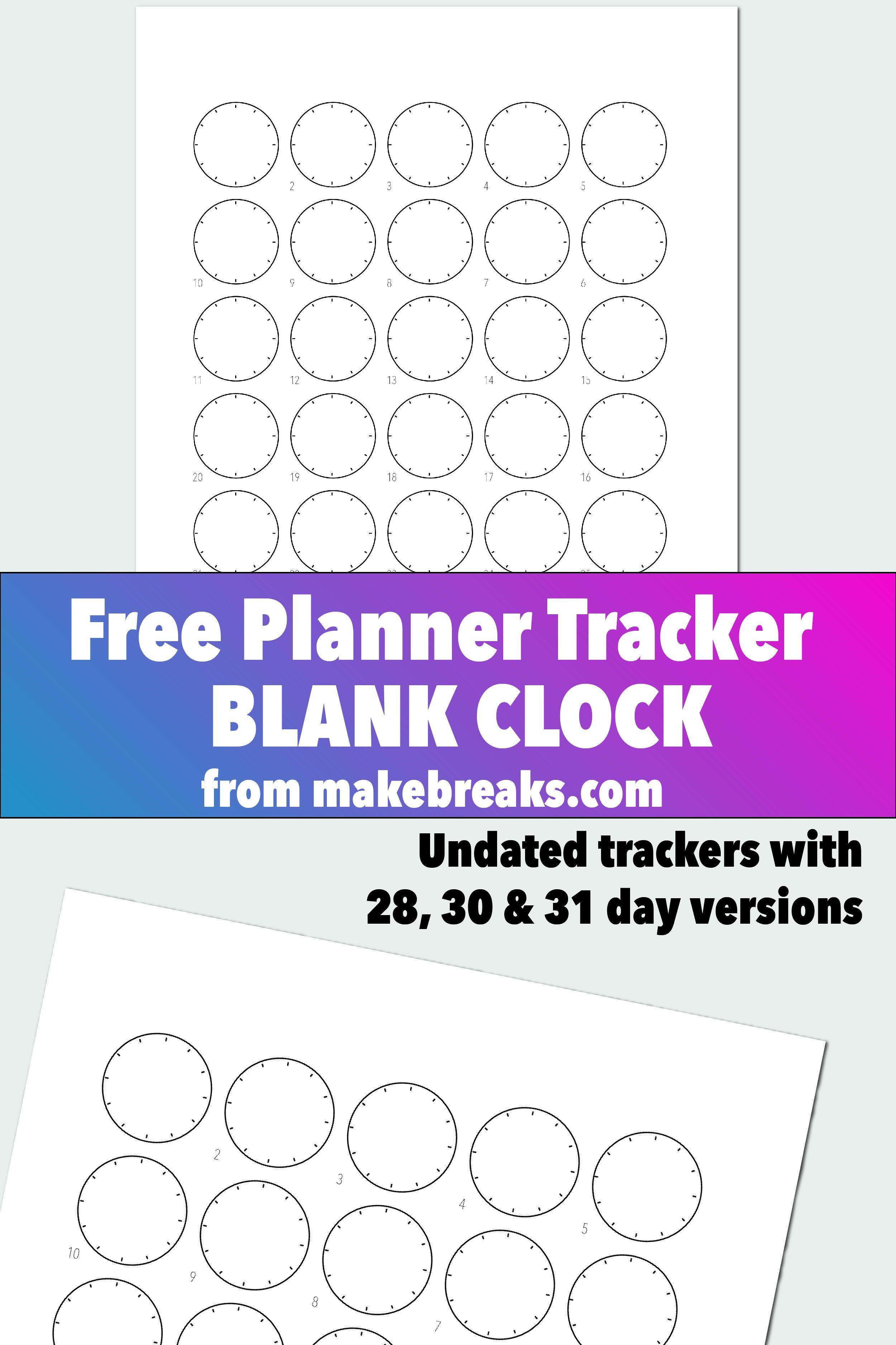 General Time Tracker for Bullet Journals and Planners | Printable