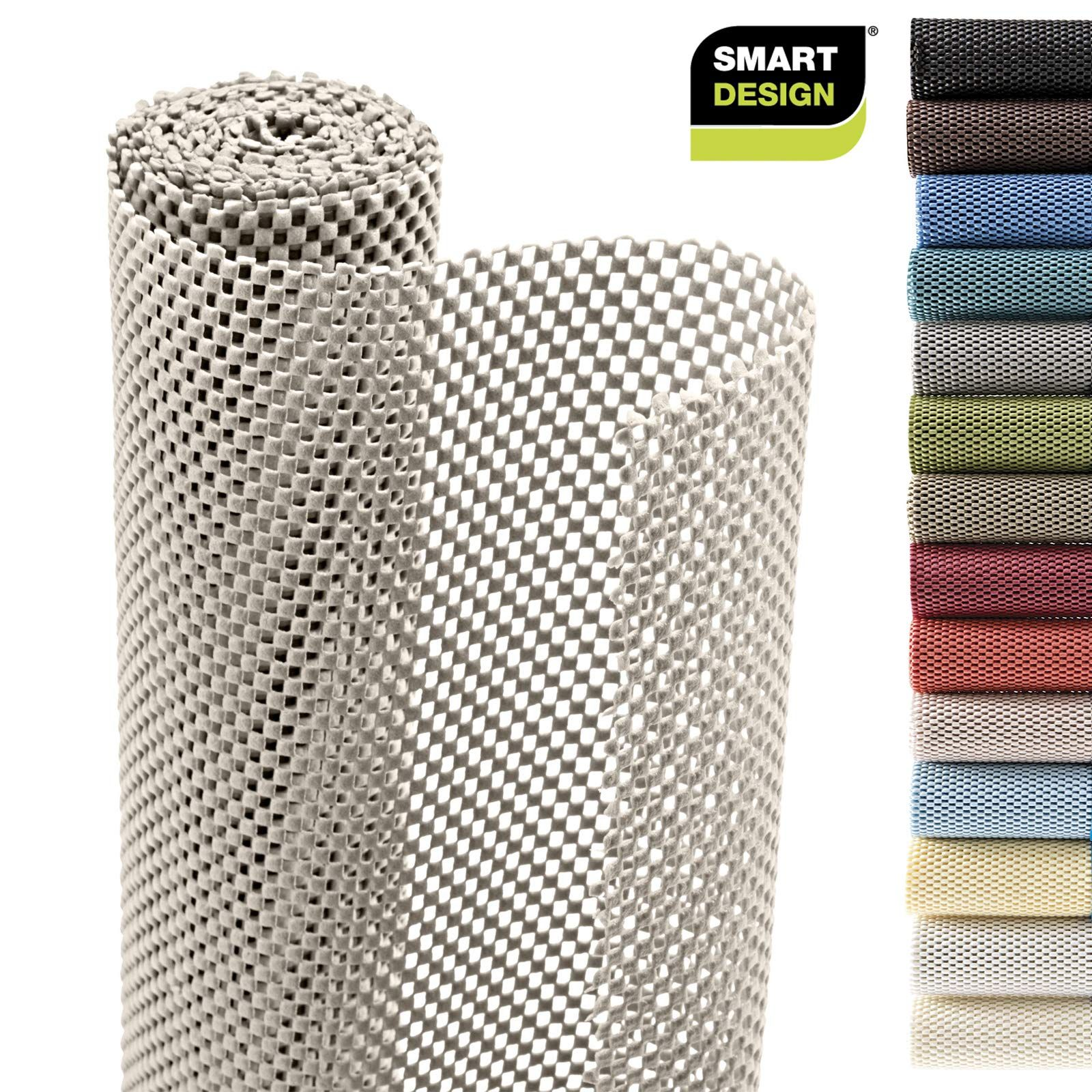 Smart Design Shelf Liner W Premium Grip Wipes Clean Cutable Material Non Slip Design For Shelves Drawers Flat Surfac In 2020 Drawer Liner Shelf Liner Drawers
