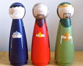 Nativity Set - do it yourself wooden nativity set scene in a bag. $30.00, via Etsy.