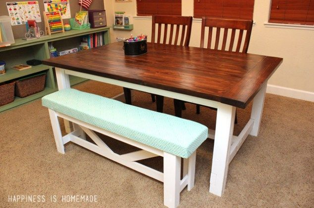40 Free Diy Farmhouse Table Plans To Give The Rustic Feel Your Dining Room And