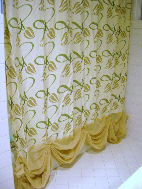Tulip Flower Luxury Shower Curtain by JessicaBarbara on Etsy, $40.00