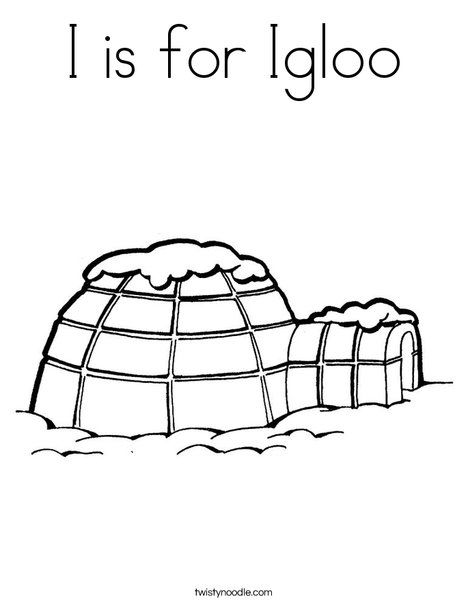 Nice Coloring Page Igloo That You Must Know You Re In Good