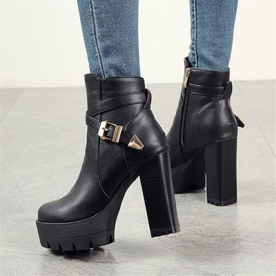 Sarairis Zip Up Plus Size 33 46 Buty Na Platformie Buty Damskie Botki Buty Na Wysokim Obcasie Buty Damskie Kup Boots High Heel Boots Ankle Heeled Ankle Boots