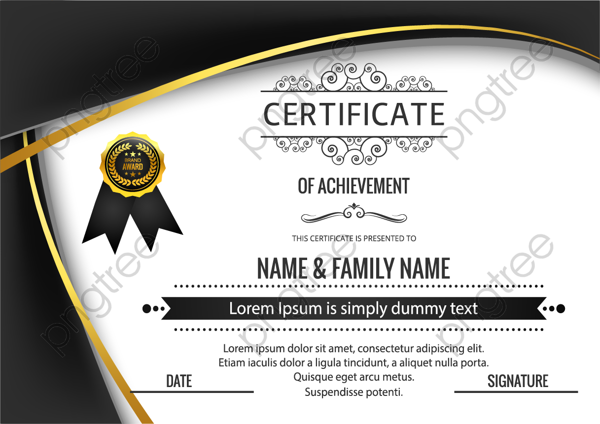 transparent black atmosphere english certificate png format image with size 1217 861 preview