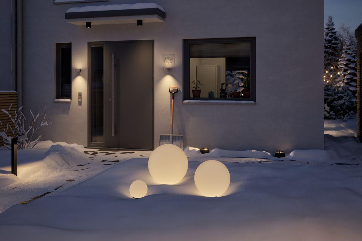 Im Winter Könnt Ihr Die Beleuchtung In Eurem Hauseingang
