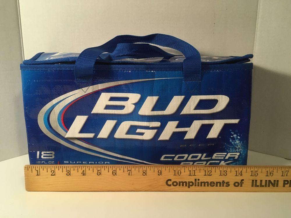 Bud Light Beer Cooler Silver Thermal Insulation 18 Pack 12 Oz Cans Bag Blue  #BudLight #Beer #BeerCooler #ThermalCooler #Insulation #18pack # ...