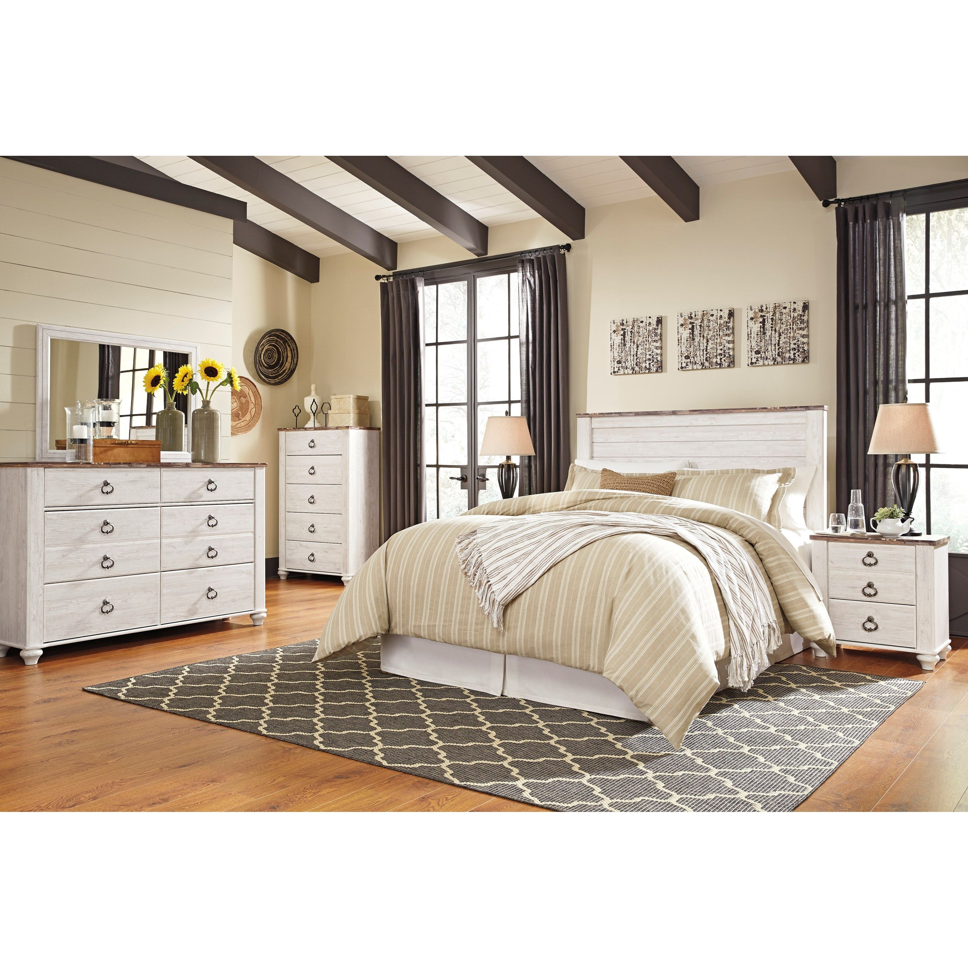 Willowton Queen/Full Bedroom Group by Signature Design by