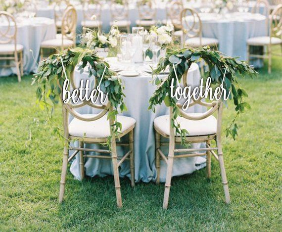 Sale Better Together - Chair Sign Wedding- Better Together Chair