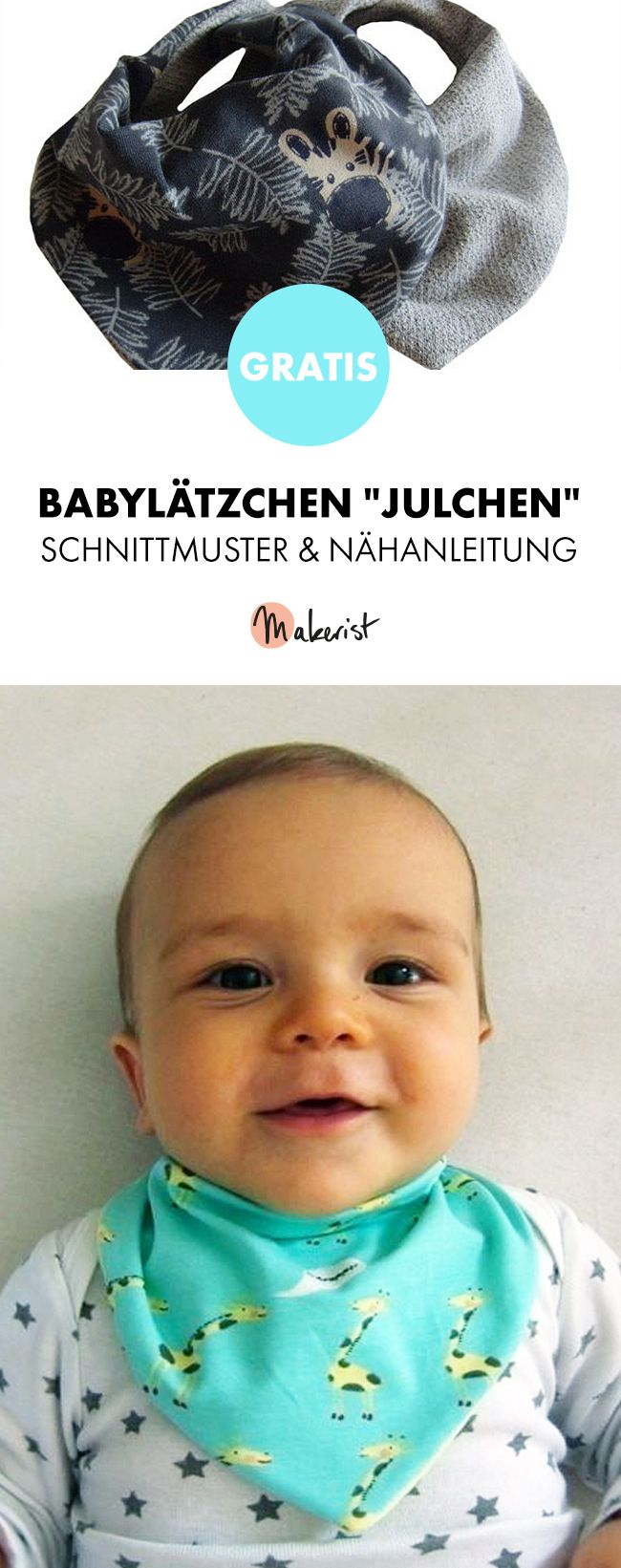 Gratisanleitung: Babylätzchen nähen - Schnittmuster und Nähanleitung via Makerist.de #bibsforbaby
