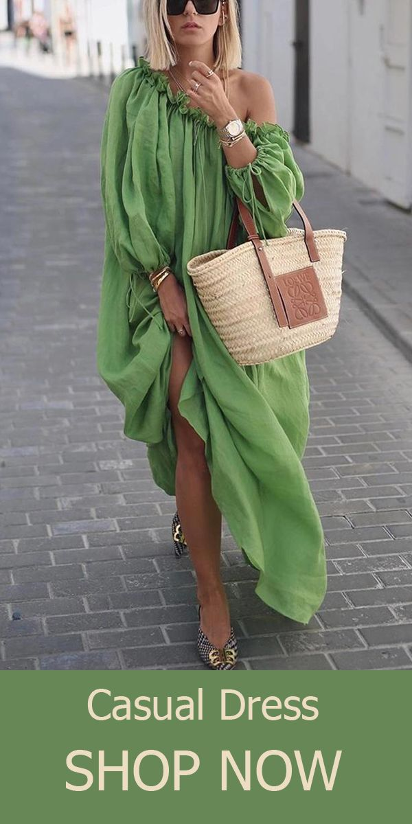 Green Casual Dress #africanstyleclothing