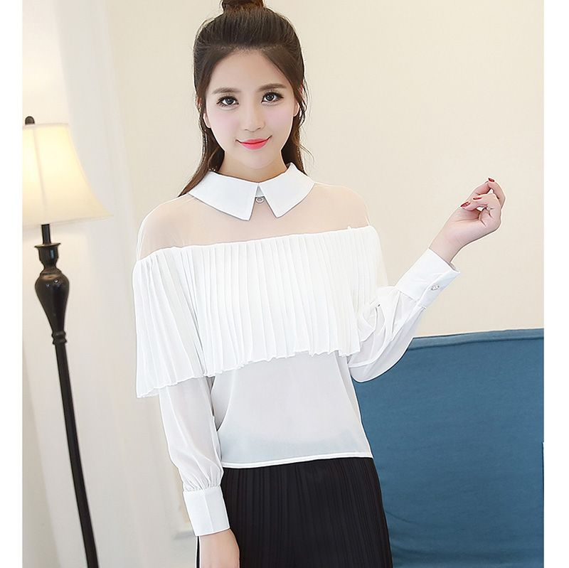 Sexy Gauze Off Shoulder Blouse Women 2017 Summer Fashion Ruffle ...