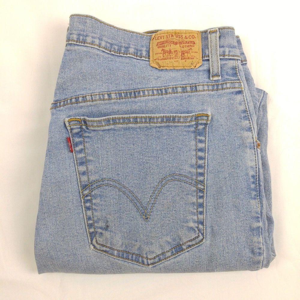 db378da8 Levis 512 Classic Fit Taper Leg Light Wash Sz 16 M High Waist Mom Jeans  11.5 Ris #Levis #Mom
