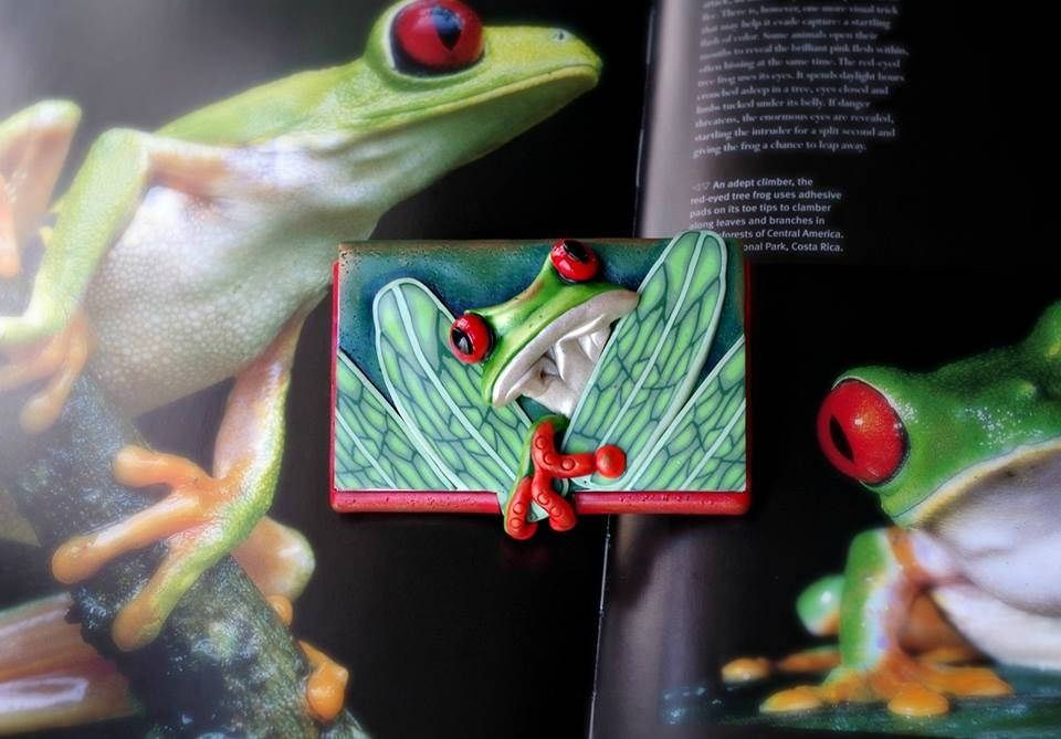 Red-eyed tree frog business card holder | Tree frogs, Business card ...