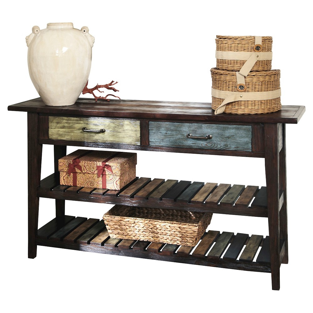 Mestler Sofa Table Rustic Brown Signature Design by