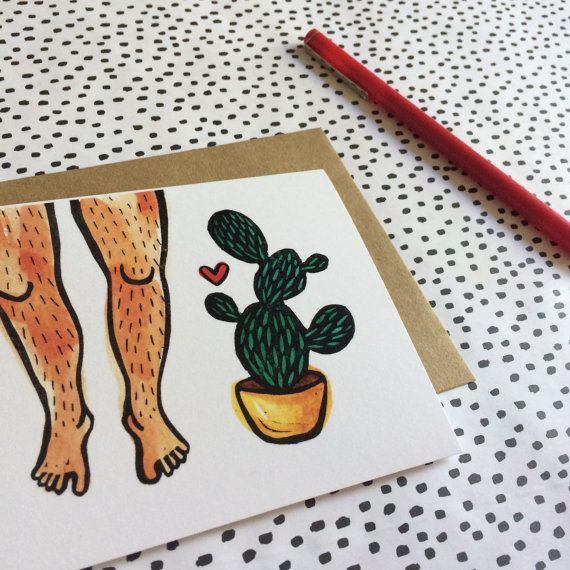 Prickly Love Greeting Card, Funny Greeting Card, Cactus Print - print anniversary card