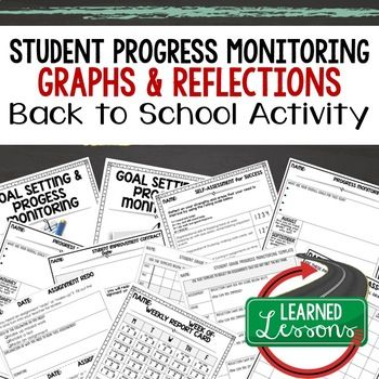 Back To School Student Student Progress Monitoring and Reflection