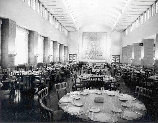 Kingswood School Dining Room 1931 Eliel Saarinen  Interiors Glamorous School Dining Room Decorating Design