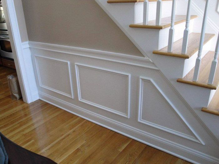 Basement Stair Trim: Mixing Oak Molding And White Trim