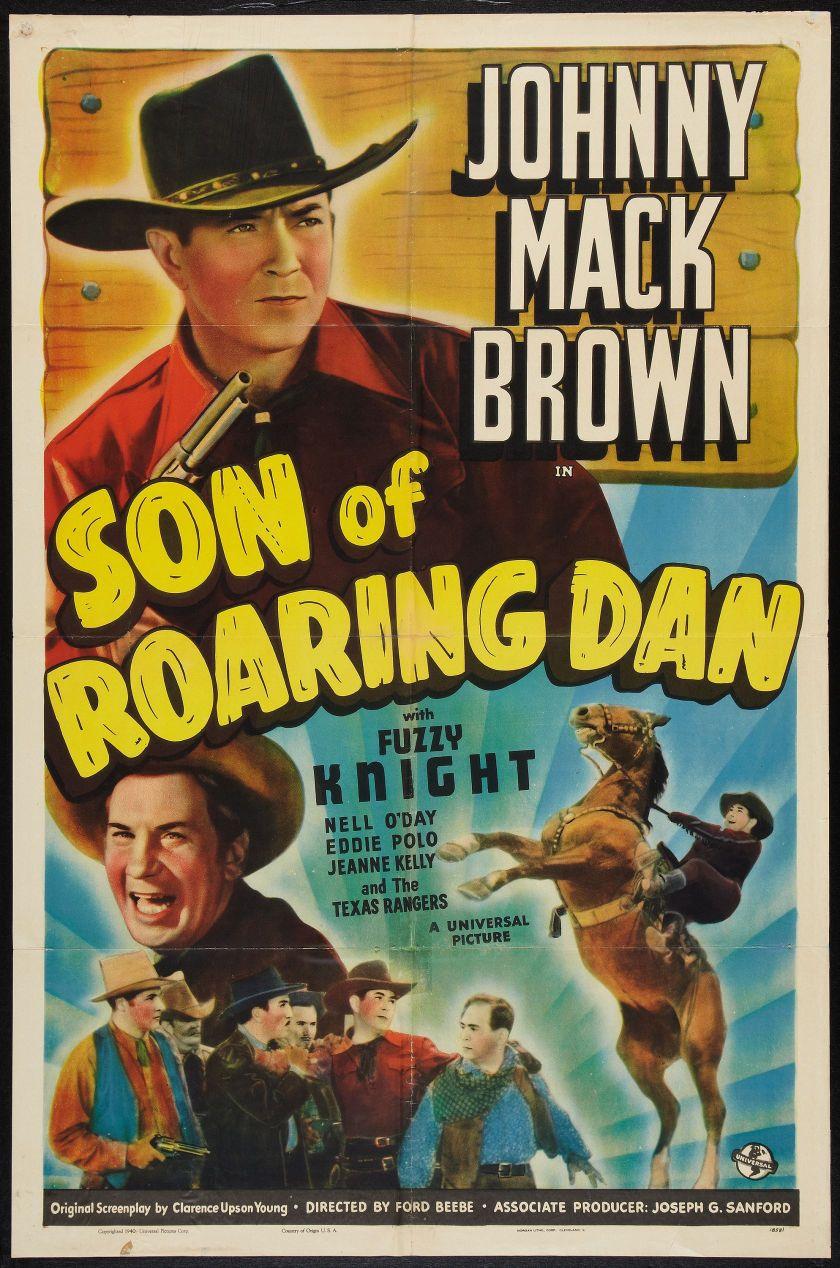 Movie posterswestern son of roaring dan universal 1940