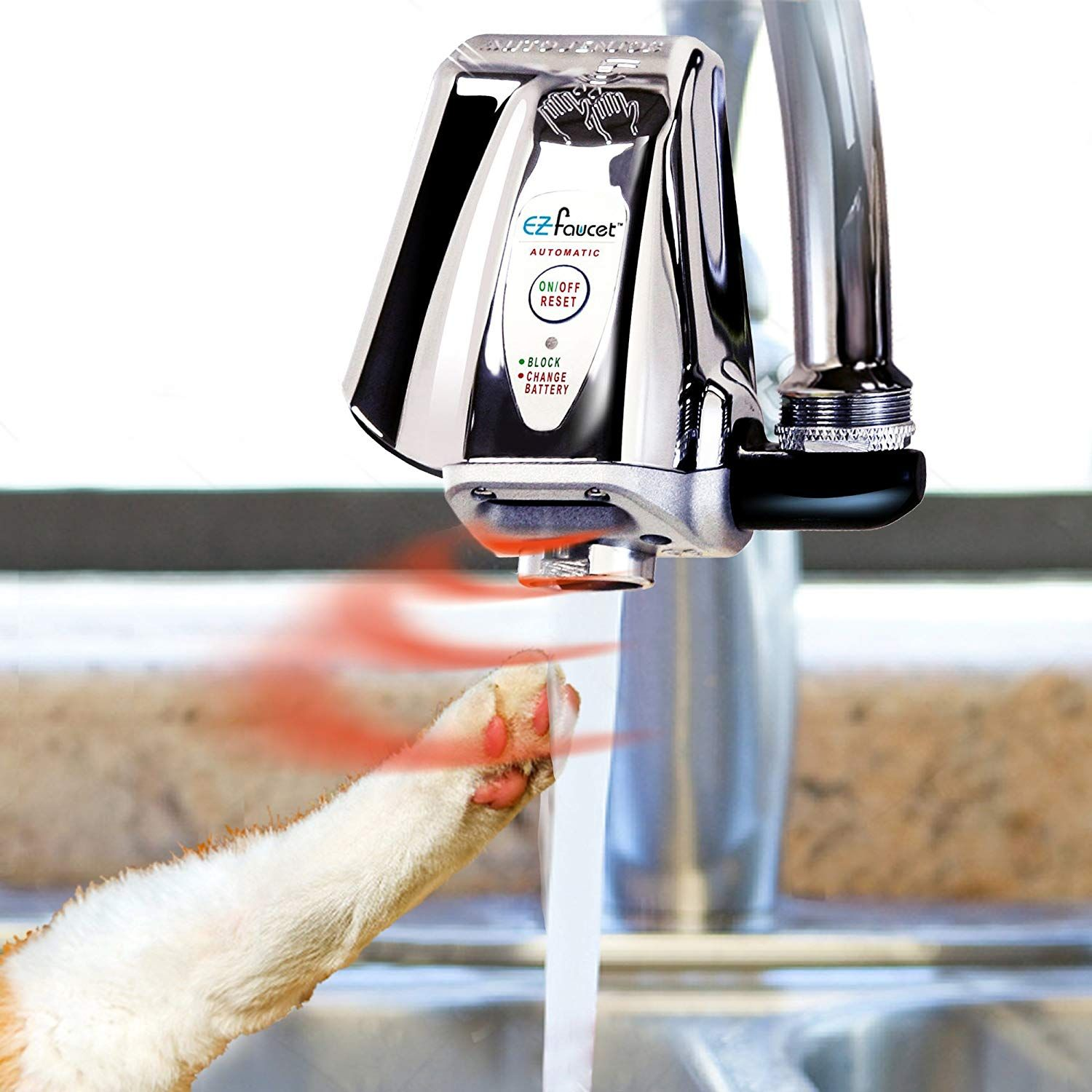 Itouchless Automatic Cat Water Fountain Adapter For Sink Touch