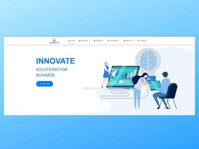 Pixelette Technologies In 2020 Web Design Technology Technology Design