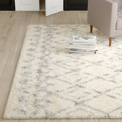 Mercury Row Gholston Hand Tufted Wool Cotton Beige Area Rug Rug