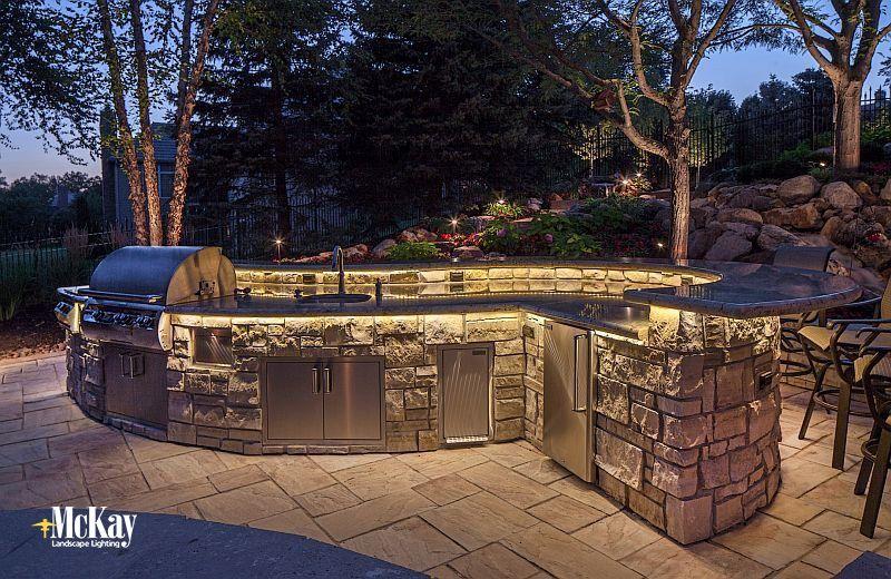 Outdoor Kitchen Led Tape Lighting Landscape Lighting Outdoor Outdoor Kitchen Cabinets