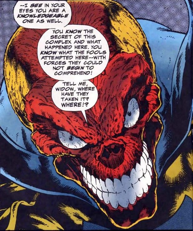 Red Skull In Avengers Vol 1 386 Art By Angel Medina