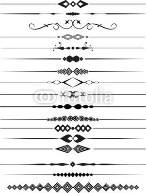 Fancy Page Dividers | Decorative page dividers from Kirsty Pargeter ...