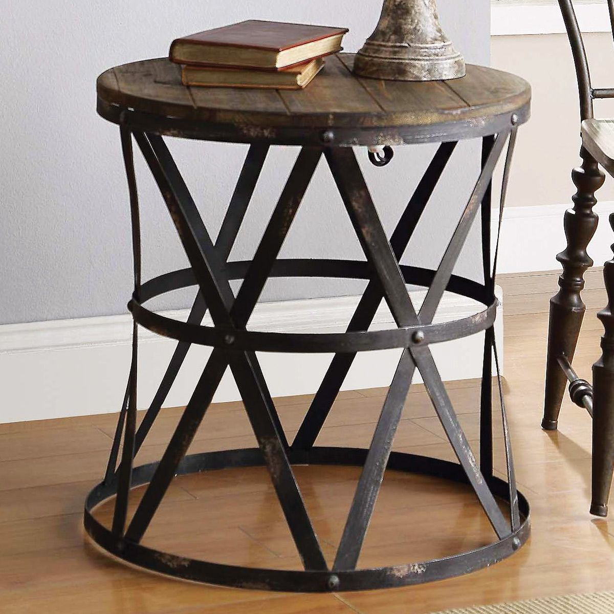 50 Small Round End Table Cheap Modern Furniture Design Check More At Http Www Nikki Rustic End Tables Rustic Side Table Rustic Modern Side Table