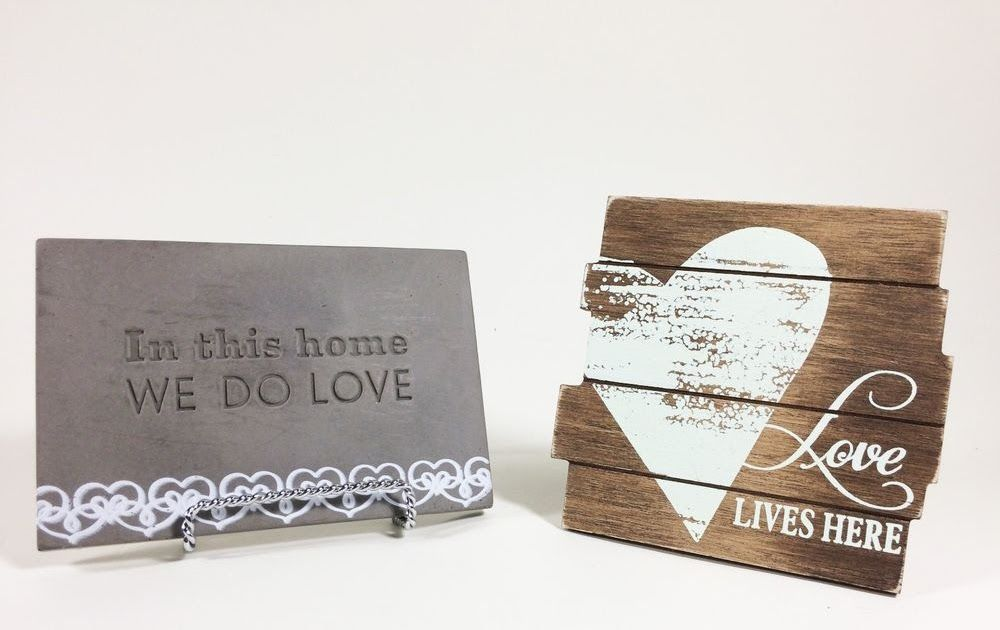 """Love Plaques Quotes Mesmerizing Inspirational """"love"""" Plaques 2 Small Signs Hallmark Home Decor"""