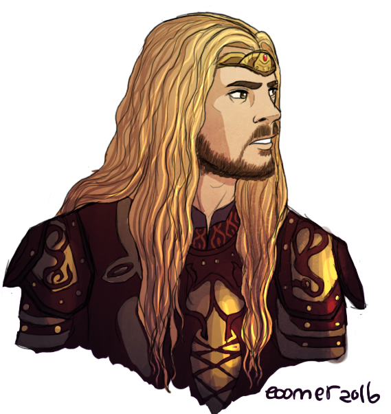 hogosh my art program fought with me the whole time i made this but im stubborn and had to draw my fav in all his kingly glory also do you know how hard karl urbans face is to draw sobs eomer belon...